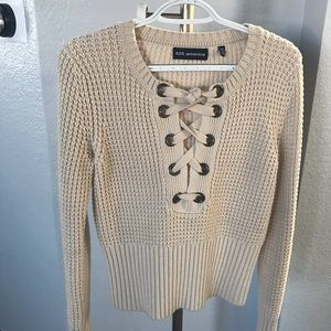 Nude Sweater with front ties